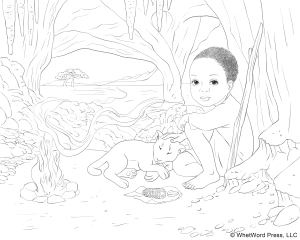 African Scene Coloring Page