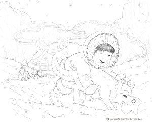 Arctic Coloring Page Copyright