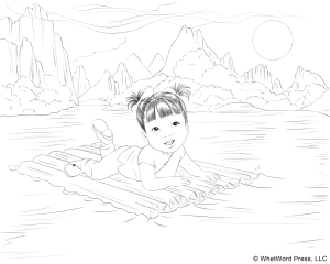 Asian Coloring Page