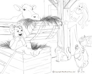Barn Coloring Page Copyright