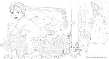 Toybox Coloring Page