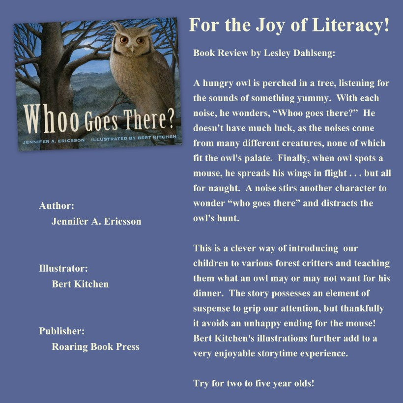 Whoo Goes There (Book Review)